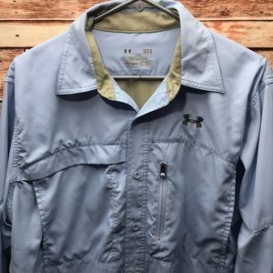 Under Armour men's heatgear Button shirt large 040